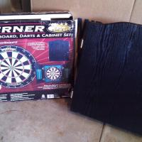 BRAND NEW DART BOARD CABINET ,  Photo
