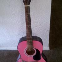 First Act Acoustic Guitar - Pink Photo