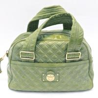 Marc Jacobs Green Patent Leather Quilted Satchel Photo