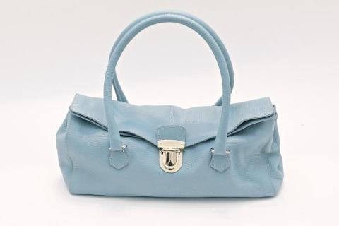 Prada Powder Blue Leather Handbag Photo