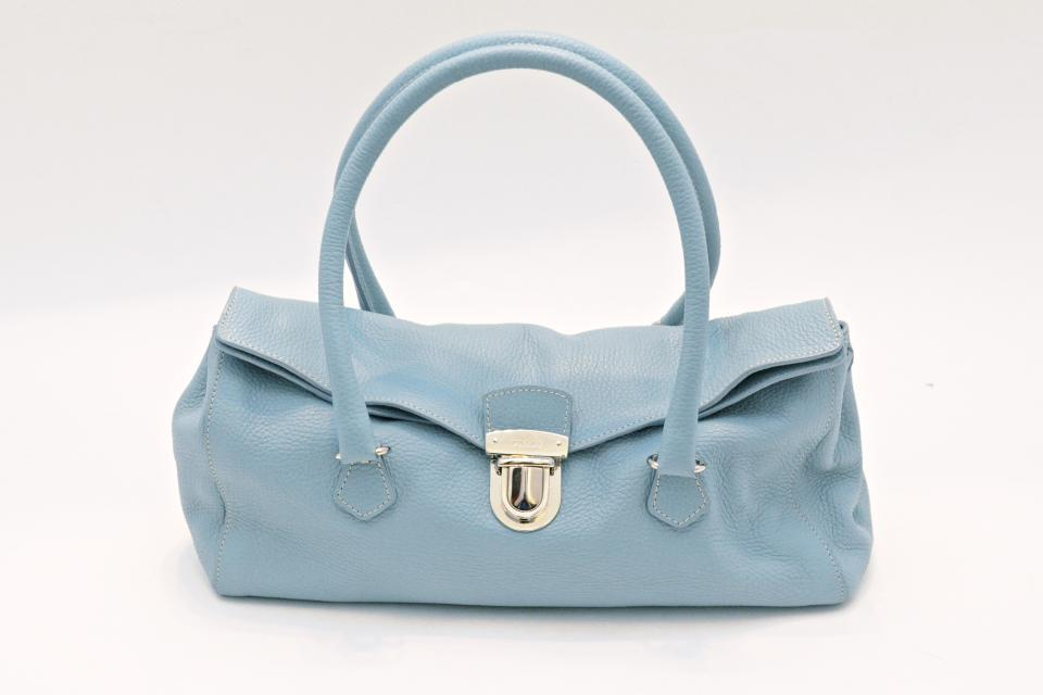 Prada Powder Blue Leather Handbag Large Photo