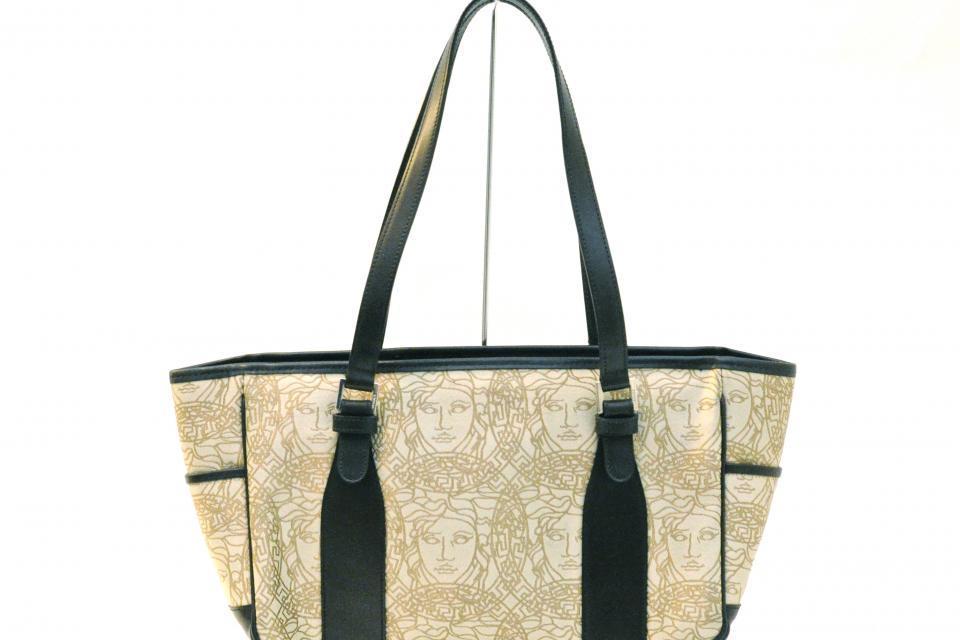 Versace Bronze Logo Handbag Large Photo
