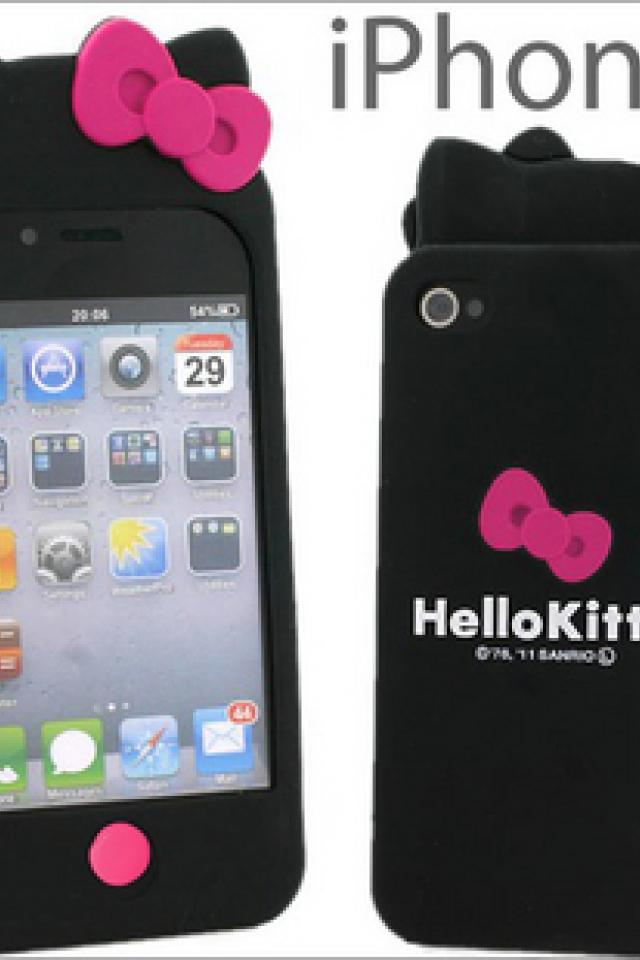 Hello kitty Silicone Cover Skin for Apple iPhone 4 4G 4S Large Photo