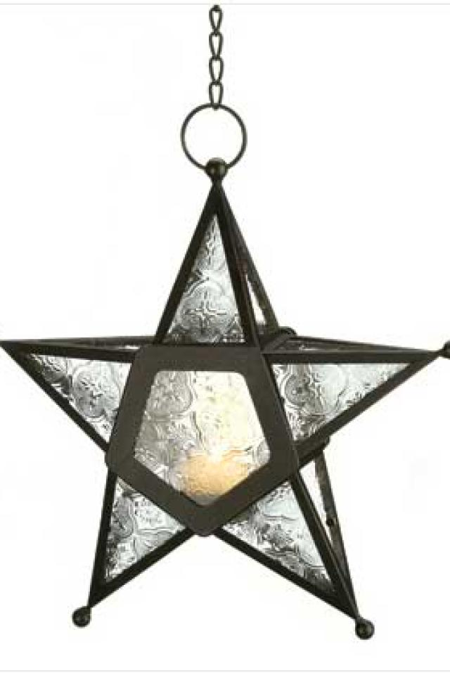 Clear Glass Star Lantern Large Photo