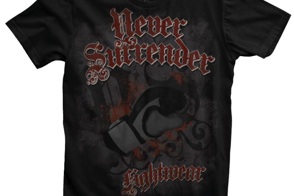 NEVER SURRENDER FIGHTWEAR FIST SHIRT Large Photo