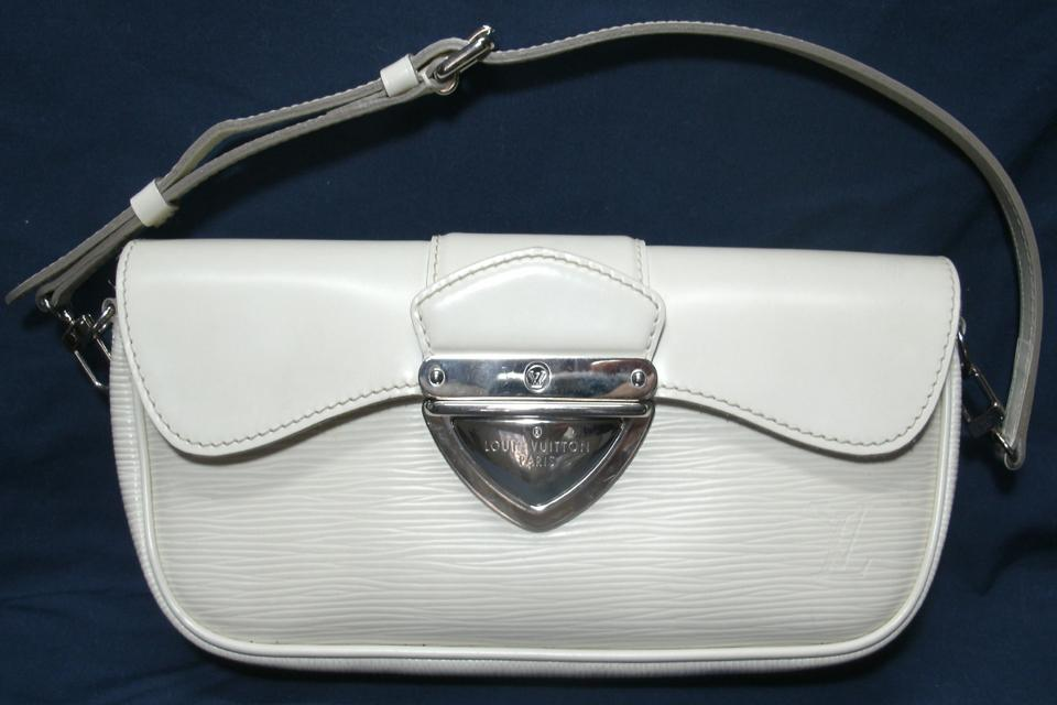 LOUIS VUITTON Ivory Epi Leather Montaigne Clutch Purse w/detachable strap Large Photo