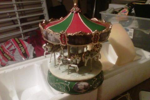 thomas kinkade victorian carousel Photo