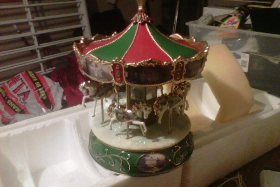 thomas kinkade victorian carousel Large Photo