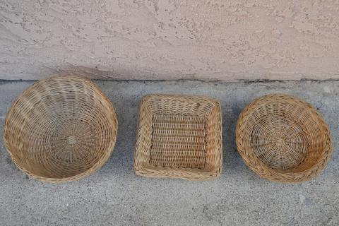 Set of 3 Wicker Baskets Photo