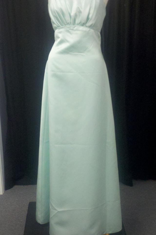 New Peridot Satin Dress Size 12 Photo