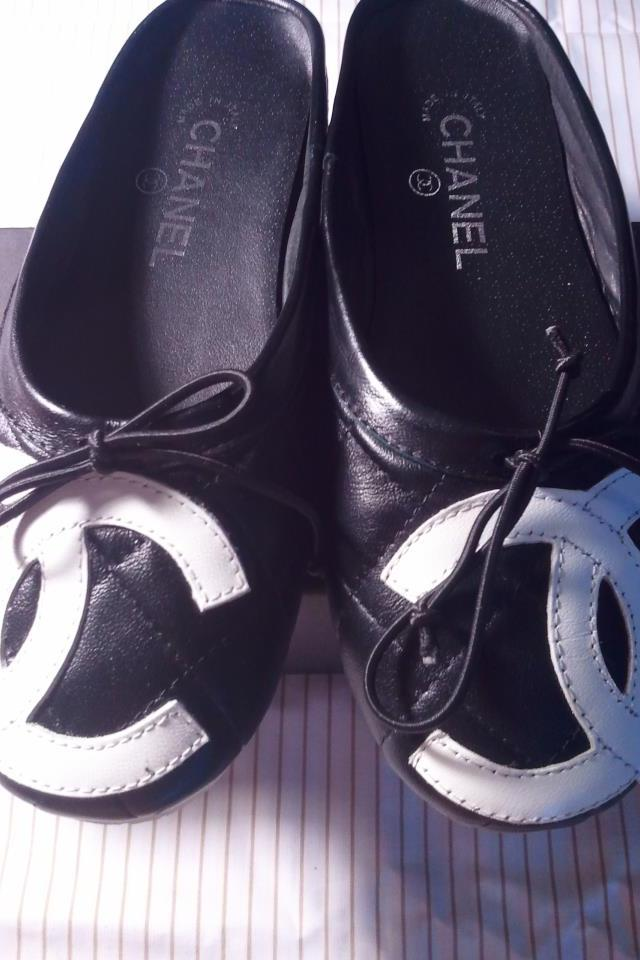Chanel Black Bow Flats Large Photo
