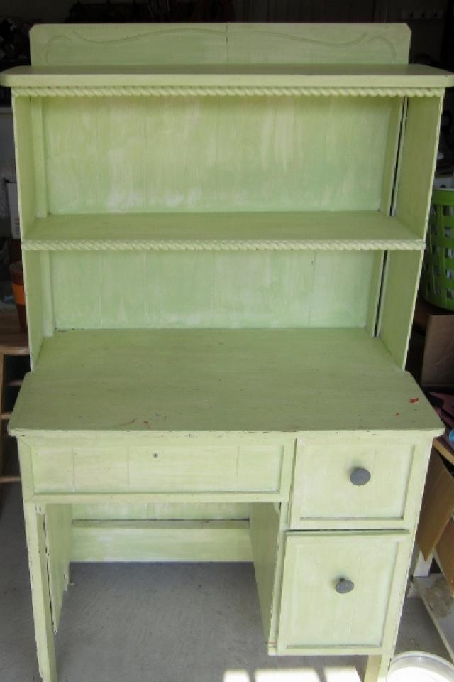 Mint Green Hutch with Chair Space Large Photo