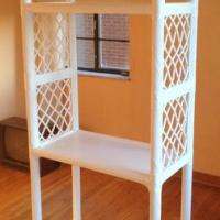 Large Wicker Etagere (free-standing shelves)  Photo