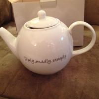 "Witty Teapot ""Truly, Madly, Steeply"" Photo"