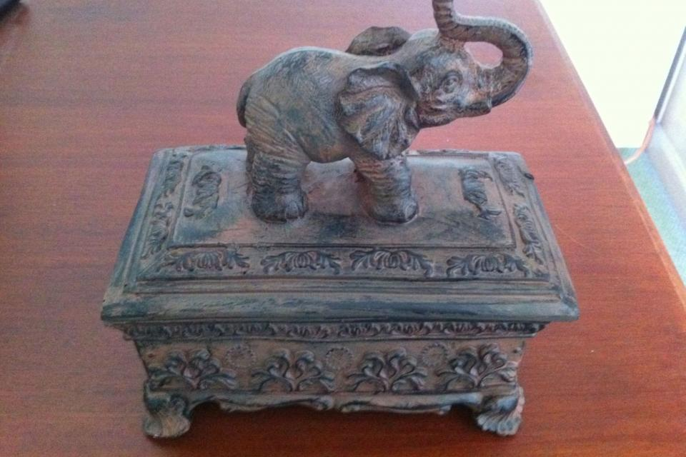 Jewelry Box elephant storage Accessory Box Hindu asian Large Photo