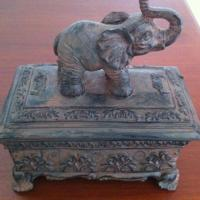 Jewelry Box elephant storage Accessory Box Hindu asian Photo