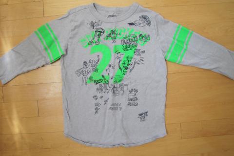 J Crew Crewcuts Boys Graphic long sleeve tee shirt, size 8 Photo