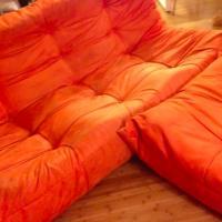 Authentic Ligne Roset togo sofa 3 piece set: loveseat, chair & ottoman Photo