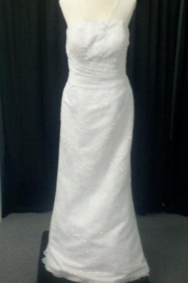 New Beaded White Wedding Dress Sz 12 Large Photo