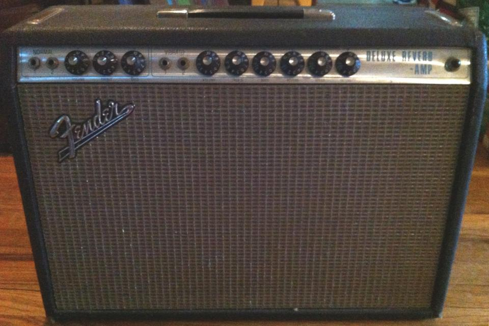1969 Fender Deluxe Reverb Guitar Amp Large Photo