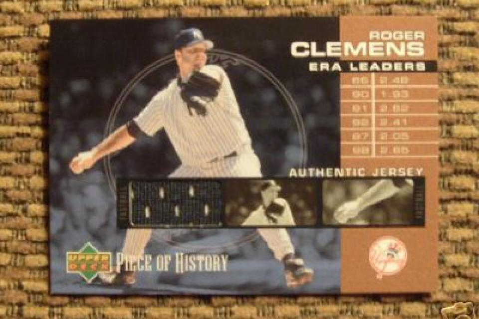 Roger Clemens Jersey Piece Card Large Photo
