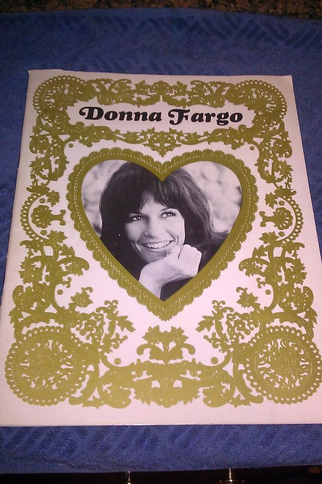 VERY RARE 1972 OFFICIAL Donna Fargo Country Music PROGRAM Photo