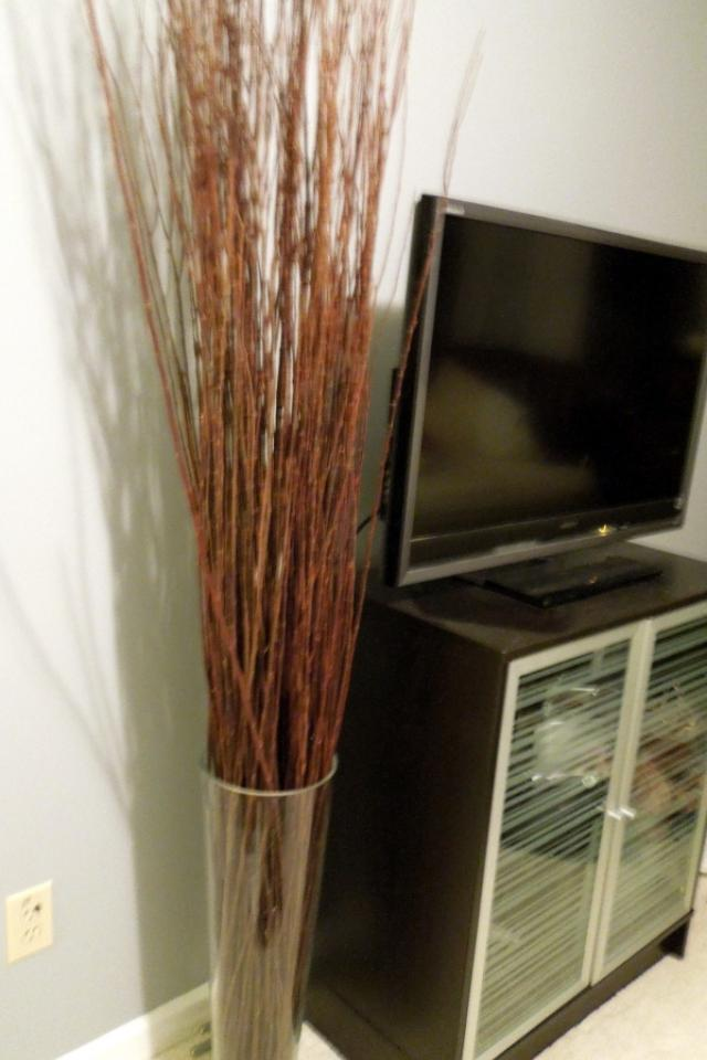 Very large vase with accent twigs, IKEA Photo