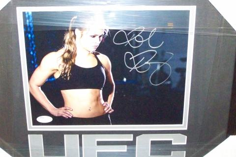 RHONDA ROUSEY SIGNED & FRAMED 8x10 PHOTO..JSA CERTIFICATE OF AUTHENTICITY Photo