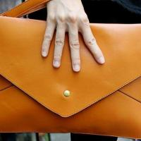 Soft Leather Clutch Photo