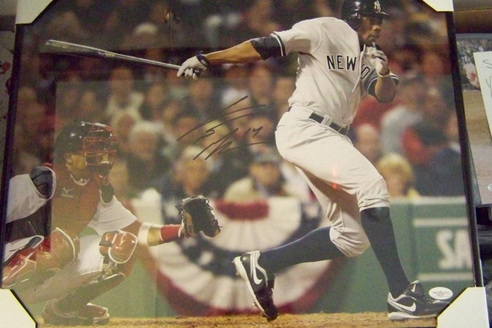 CURTIS GRANDERSON SIGNED 16x20 PHOTO FRAMED ..JSA CERTIFICATE OF AUTHENTICITY Large Photo