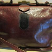 Lovely vintage bag, small doctor's bag, brown Photo