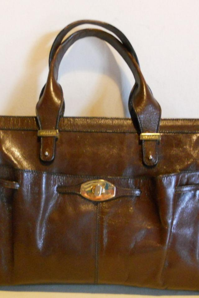 Lovely Italian, vintage leather handbag, model Kelly .Bettina, Italy Photo