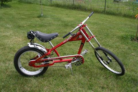 COLLECTORS SCHWINN, ORANGE COUNTY CHOPPERS RED STINGRAY KIDS CHOPPER BICYCLE Photo
