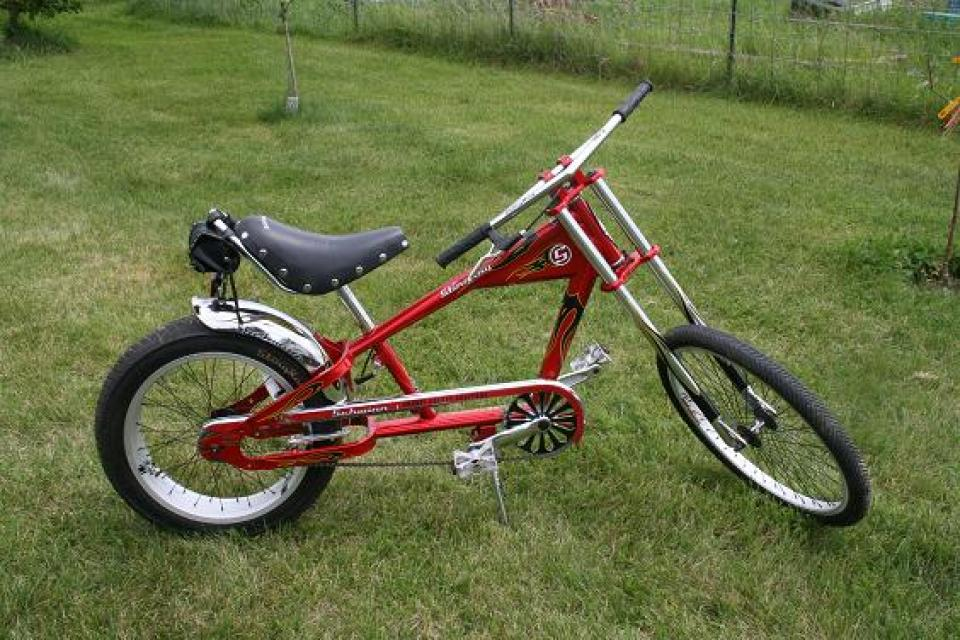 COLLECTORS SCHWINN, ORANGE COUNTY CHOPPERS RED STINGRAY KIDS CHOPPER BICYCLE Large Photo