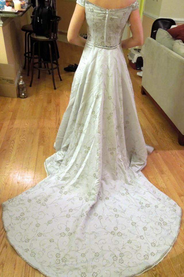Demetrios wedding gown 12/14 Large Photo
