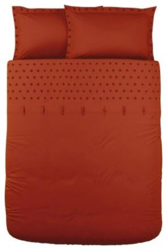 Red Ikea duvet set with pillow shams QUEEN Large Photo