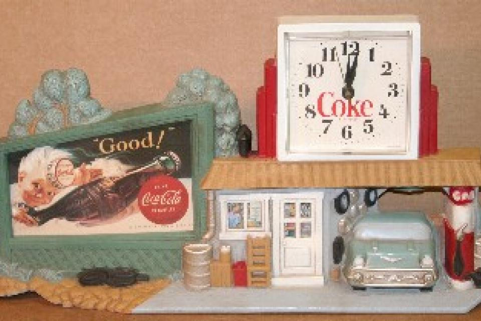 Coca Cola clock   Large Photo
