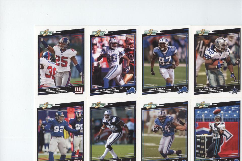 Football Card Lot Assorted Large Photo