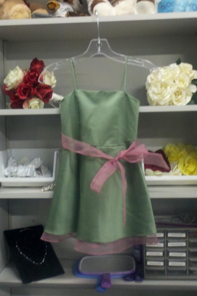 Clover/Pink Size 5 Satin New Dress Large Photo