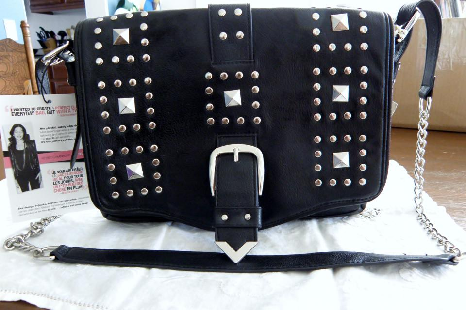 Rebecca Minkoff Black Studded Purse Large Photo