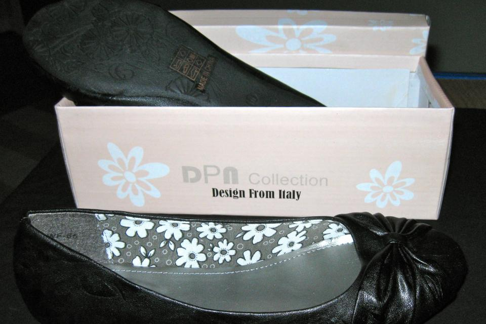 DPN Collection Ballerina Flats Size 10 / Free Shipping  Large Photo