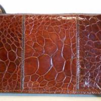Fabulous rust brown vintage crocodile skin evening bag or clutch . 70 Photo