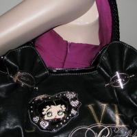 ♥♥♥ Betty Boop♥♥♥ Stylish Fashion Satchel Bag, Black, Very Trendy! Photo