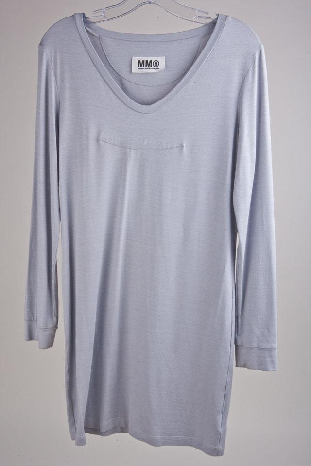 MM6 Gray Jersey Dress Large Photo