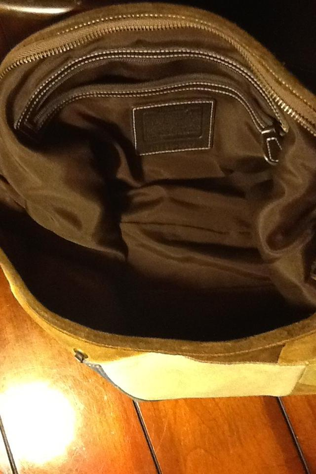 Coach patchwork hobo suede Photo