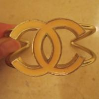 100% Authentic Chanel Pink Cuff Photo