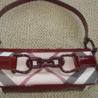 100% Authentic Burberry Burgendy Bag Photo