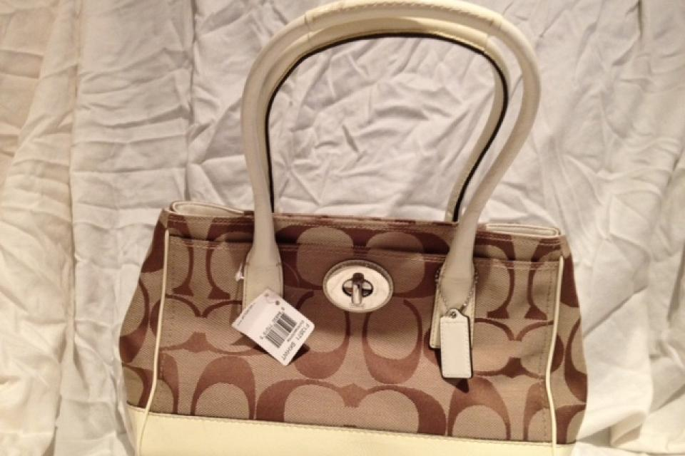 NWT Coach Signature Bag Large Pho