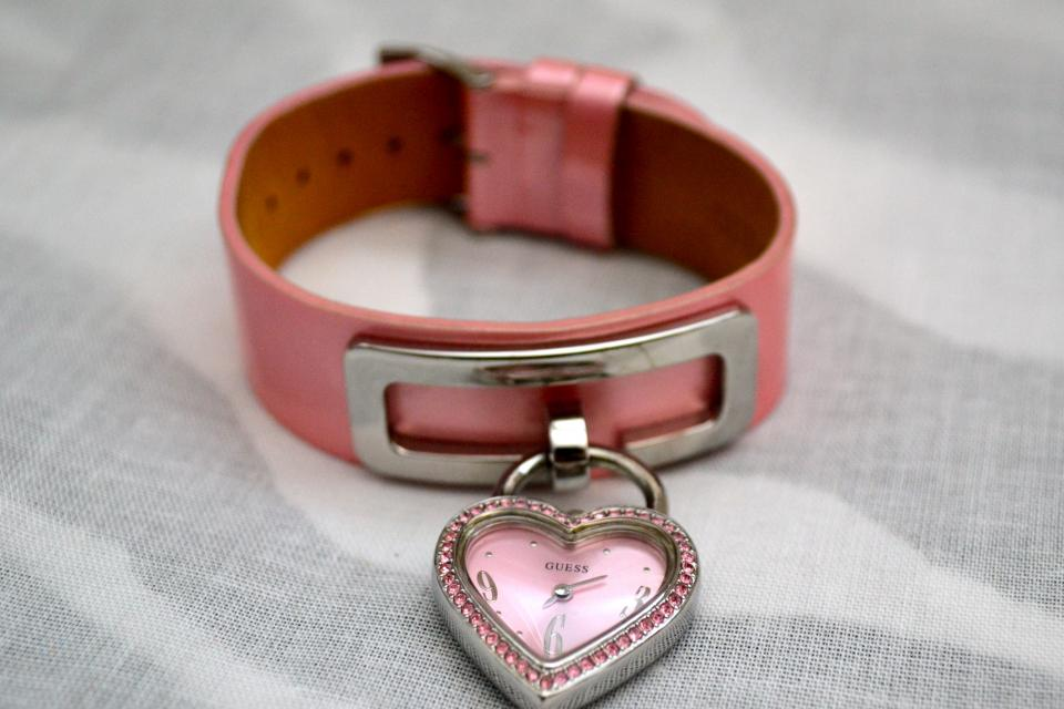 GUESS Pink Heart Watch Large Photo