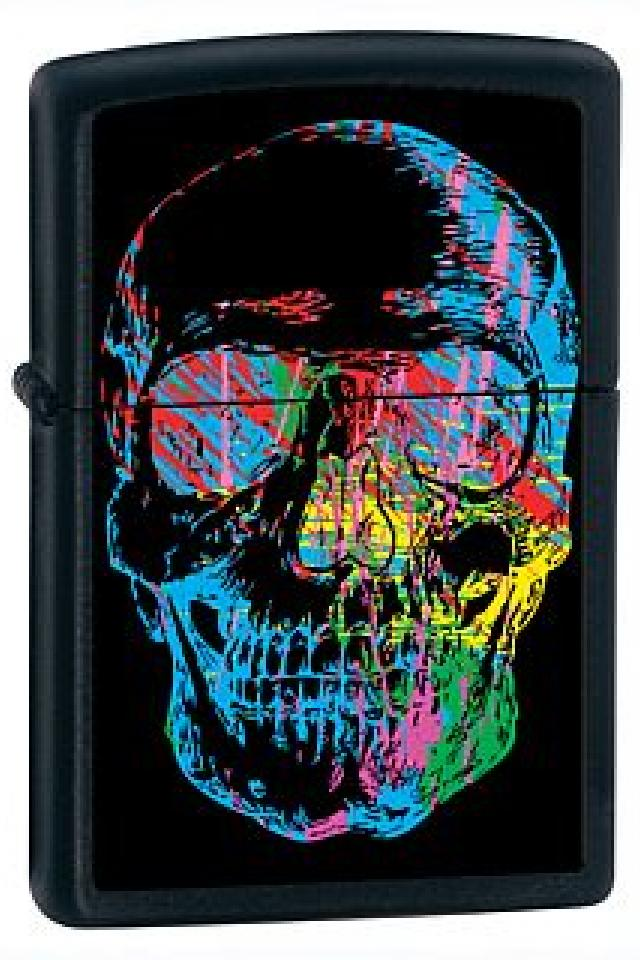 Skull Zippo Lighter Large Photo